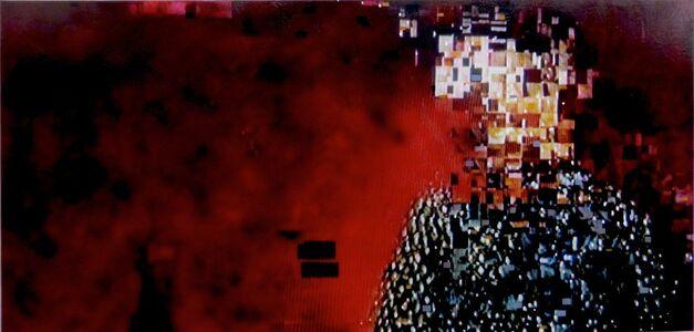 Chris Kienke, 'Man Against Red Wall', 2016