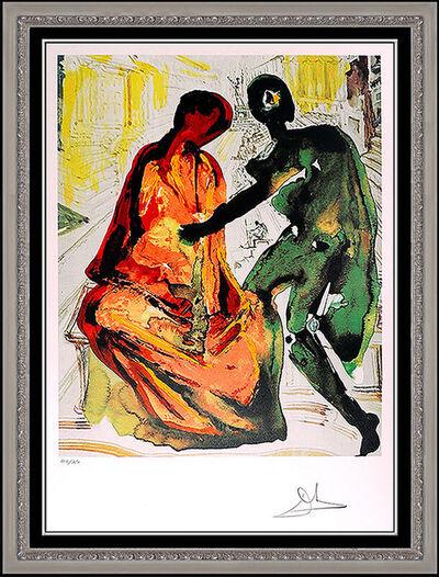 Salvador Dalí, 'Salvador Dali Color Lithograph Hand Signed Les Amoureux Authentic Surreal Art', 1979