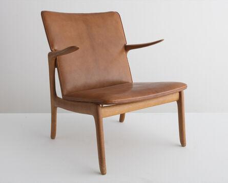 Ole Wanscher, 'Rare lounge chair in natural Nigerian goatskin', 1951