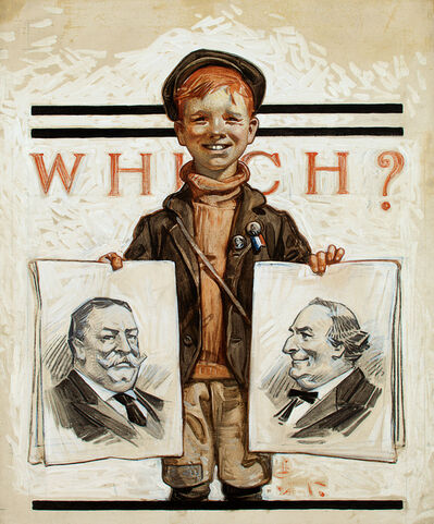 Joseph Christian Leyendecker, 'Which One? Saturday Evening Post Cover', 1908