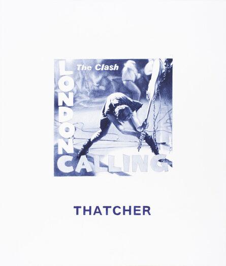 Giuseppe Stampone, 'Nel blu dipinto di blu (Thatcher)', 2015