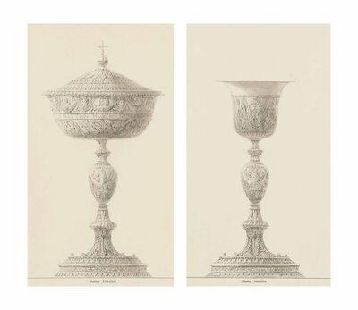 Charles Percier, 'A ciborium; and A chalice: Designs for the coronation of Napoleon'
