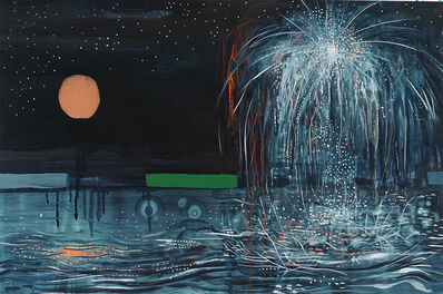 Brian Frink, 'Moon, Fireworks, Reflection', 2020