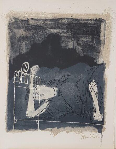 "Ben Shahn, 'Of light, white, sleeping women in childbed (from Portfolio ""For the Sake of A Single Verse by Rainer Maria Rilke"")', 1968"