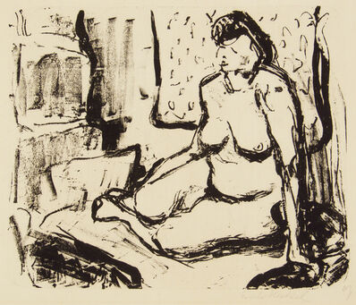 Erich Heckel, 'Squatting Girl', 1907
