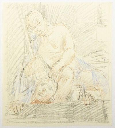 "Paul Cadmus, 'Study for ""David and Goliath""', ca. 1980"