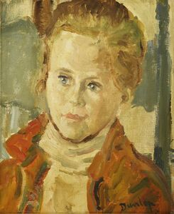 Ronald Ossory Dunlop, 'PORTRAIT OF A YOUNG WOMAN, BUST LENGTH'