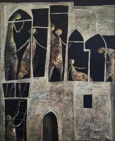 Yosl Bergner, 'Jaffa Hotel', 1956