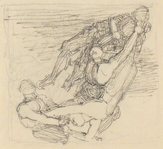 John Flaxman, 'Figure Being Transported through the Air'