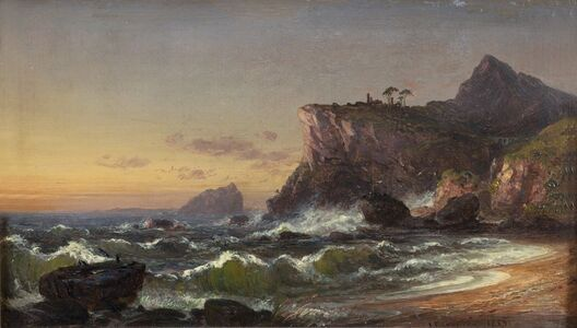 Jasper Francis Cropsey, 'Morning on the Ocean', 1855