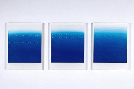Katsumi Hayakawa, '1・2・3 (Blue No. 1 - 3)', 2017