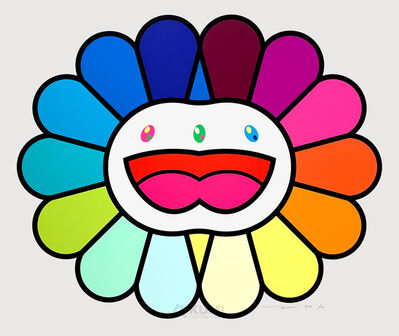 Takashi Murakami, 'Multicolor Double Face White', 2020
