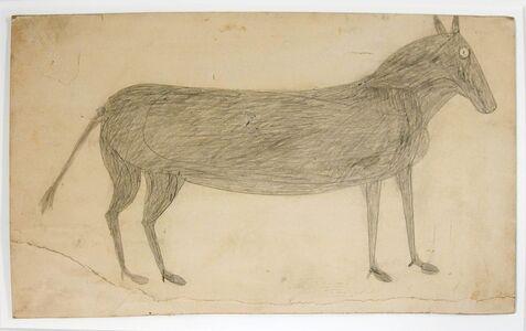 Bill Traylor, 'Mule (early)', ca. 1939