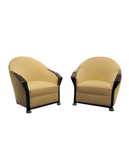 Pierre Chareau, 'Pair of MF 158 Armchairs'