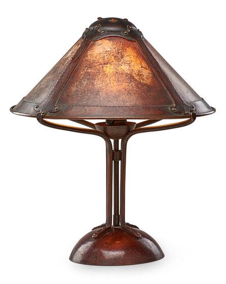 Attributed to Dirk Van Erp, 'Fine table lamp, San Francisco, CA', 1910s