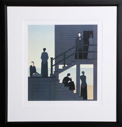 Will Barnet, 'Waiting from the Kent-Bicentennial Portfolio-Spirit of Independence', 1975