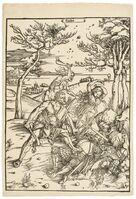 Albrecht Dürer, 'Hercules conquering Cacus (Hercules conquering the Molionide Twins)', 1496