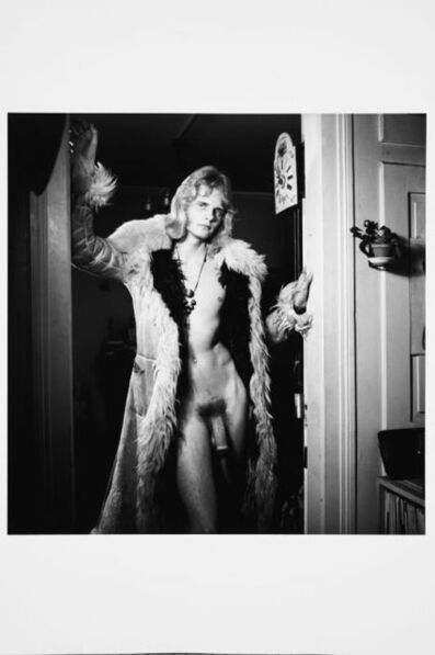 Karlheinz Weinberger, 'Nude dressed in fur coat in KHW studio', 1970