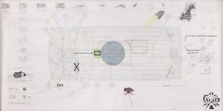 Ant Farm, 'Ant Farm Media Van v.08 [Time Capsule], Side Elevation', 2008