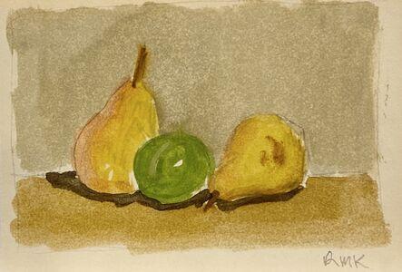 Robert Kulicke, 'Three Fruit on a Shelf', Not dated