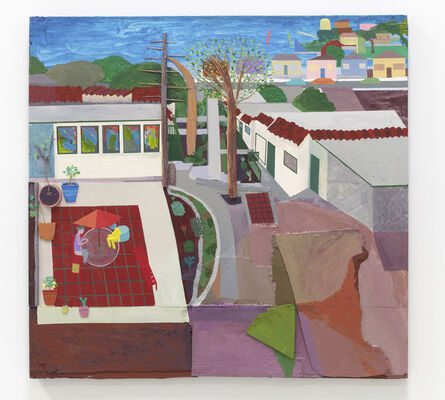 Chris Johanson, 'Being in my life no.1 (Los Angeles Landscape Painting no.6)', 2014