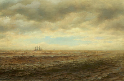 Henry Smith, 'Sailing Ship on the Horizon', 1880