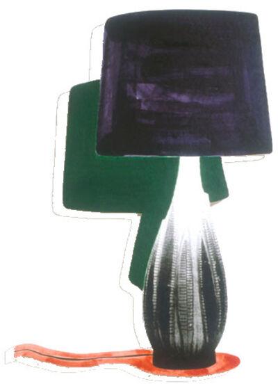 John Baldessari, 'Table Lamp and its Shadow B & H', 1994