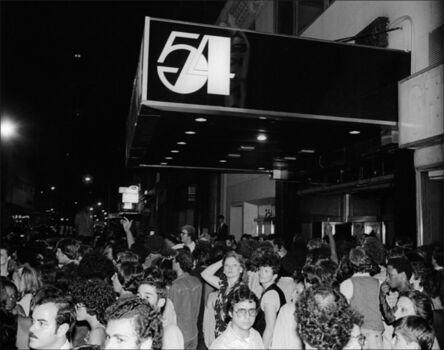 Allan Tannenbaum, 'Studio 54 Logo/Crowds', 1978