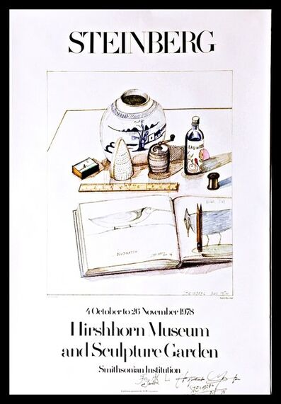 """Saul Steinberg, 'Hirshhorn Museum and Sculpture Garden Exhibition, Hand Signed & Inscribed to the first director of the Hirshhorn Museum, Abram """"Al"""" Lerner and his wife Pauline', 1978"""