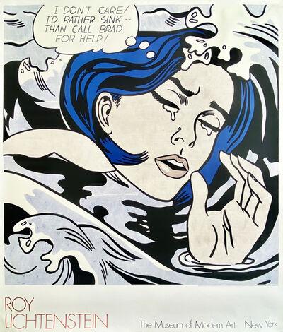 Roy Lichtenstein, 'Drowning Girl, 1989, Original Museum Exhibition Lithograph.', 1989