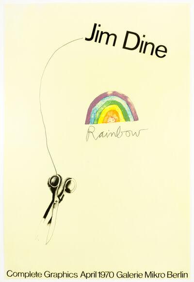 Jim Dine, 'Galerie Mikro 1970 (Scissors and Rainbow 1969) SIGNED', 1970