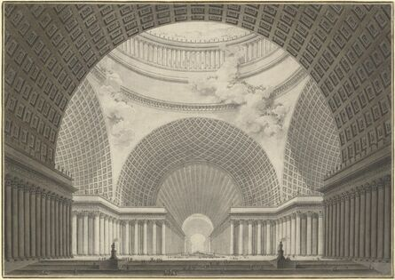 Etienne-Louis Boullée, 'Perspective View of the Interior of a Metropolitan Church', 1780/1781