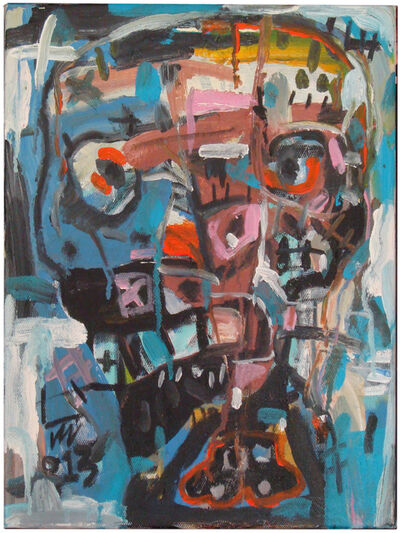 Nguyen Cong Cu, ''Face II' Oil on Canvas Abstract Painting', 2013