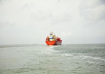Victoria Sambunaris, 'Untitled (LPG Tanker, Navigator Europa, Liberia), Houston Ship Channel, Texas', 2015