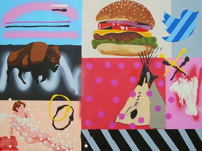 Frank Buffalo Hyde, 'Meta Painting - Cheeseburger', 2017