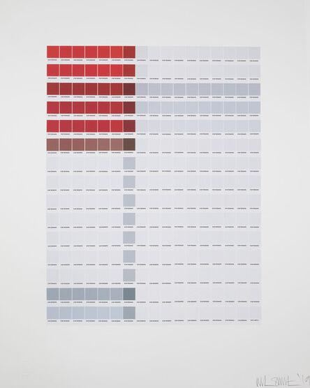 Nick Smith, 'Mondrian - composition (A) en Rouge et Blanc', 2019
