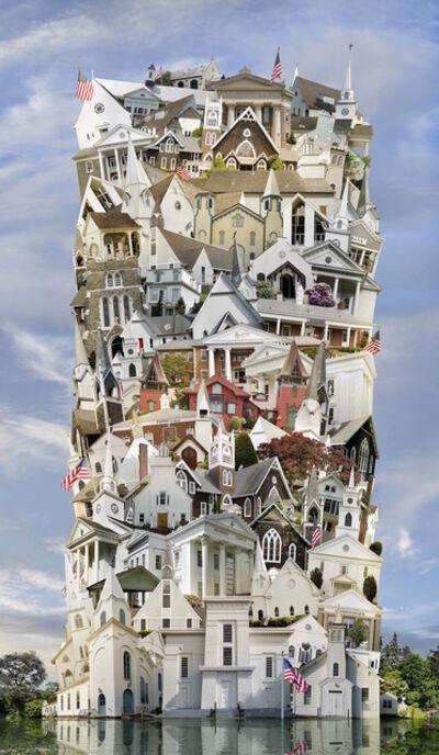Jean-François Rauzier, '[Hamptons Babel - In God We Trust]', 2018