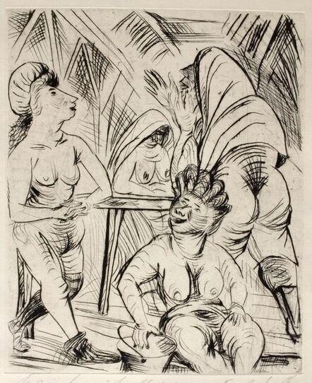 PAUL KLEINSCHMIDT, 'Nudes Dressing', 1922