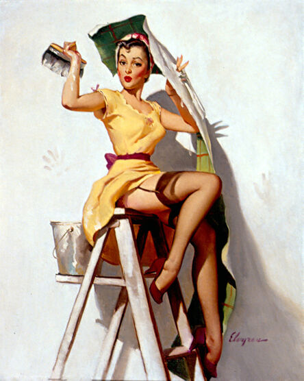 Gil Elvgren, 'Help Wanted!', 1952
