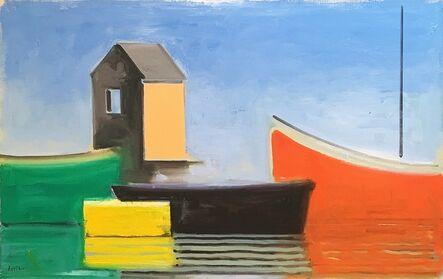 Paul Resika, 'Serene Boat House', 2000