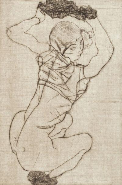 Egon Schiele, 'Squatting Woman', 1914