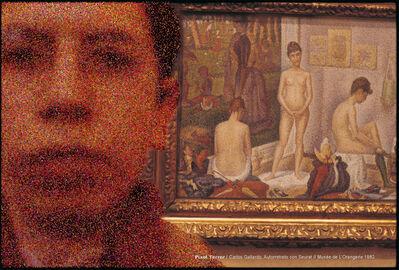 Carlos Gallardo, 'Pixel Terror, Autorretrato con Seurat', 1982