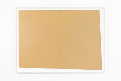 Robert Mangold (b.1937), 'A Curved Line Within Two Distorted Rectangles (Ochre)', 1978