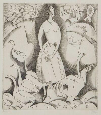 Jean-Emile Laboureur, 'La Filles aux oies', 1916