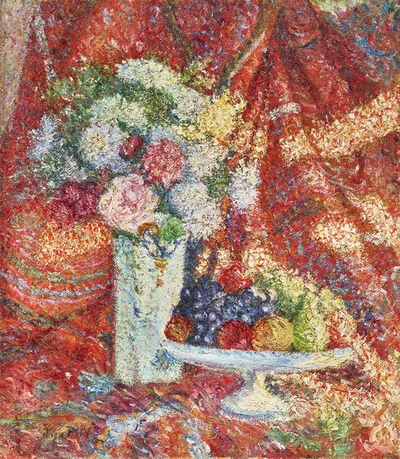 Jean Puy, 'Bouquet et corbeille de fruits', ca. 1898