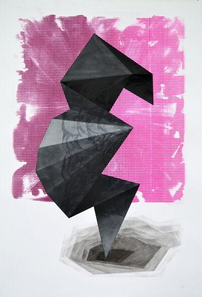 Lenneke van der Goot, 'Black folded sculpture', 2020