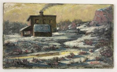 David Burliuk, 'House in the snow', ca. 1945