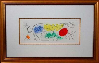 Joan Miró, 'Erik Satie (Poems and songs) # 687', 1969