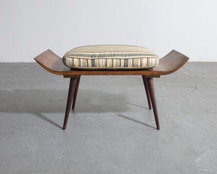 Joaquim Tenreiro, 'Stool in rosewood with an upholstered cushion', 1950