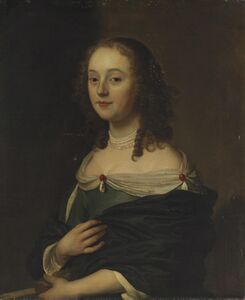Jacob van Loo, 'Portrait of a young lady in a blue dress, half-length', 1657
